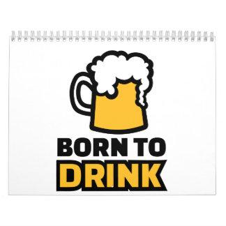 Llevado beber la cerveza calendarios de pared