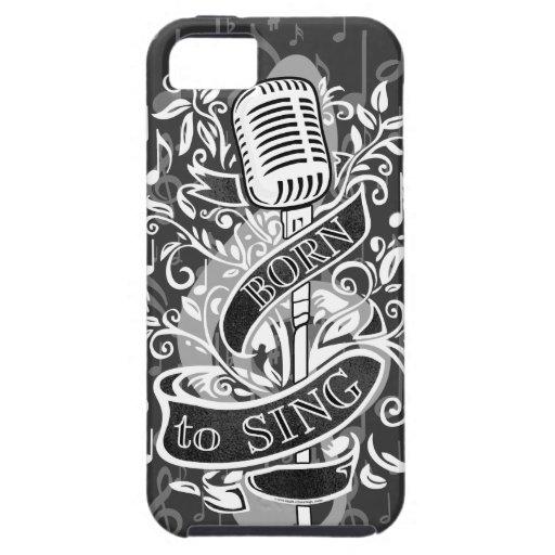 Llevado cantar el caso del iPhone 5 iPhone 5 Funda