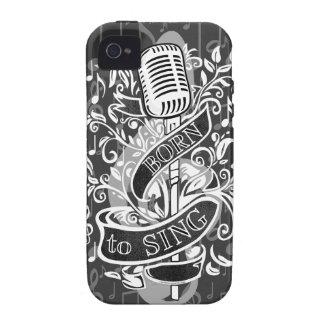 Llevado cantar pieles y los casos electrónicos vibe iPhone 4 carcasa