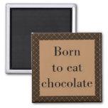 Llevado comer el imán cuadrado del chocolate