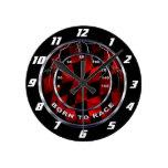 Llevado competir con el velocímetro reloj de pared