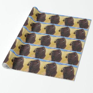 Llevado de búfalo del bisonte del trueno papel de regalo