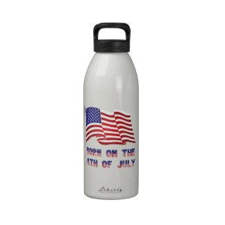 llevado el 4 de julio botella de agua reutilizable