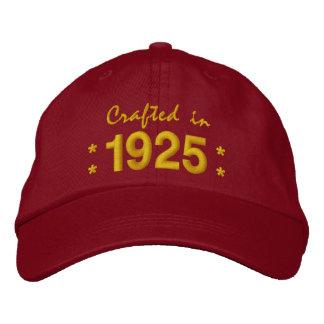 Llevado en 1925 o cualquier ROJO del cumpleaños Gorras De Beisbol Bordadas
