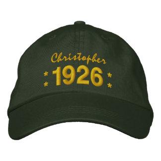 Llevado en 1926 o cualquier VERDE del cumpleaños Gorra De Beisbol