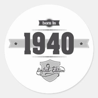 Llevado en 1940 (Dark&Lightgrey) Etiqueta Redonda