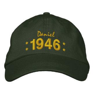 Llevado en 1946 o cualquier VERDE del cumpleaños Gorra De Beisbol