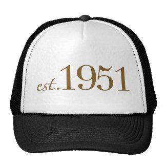 Llevado en 1951 (60.o cumpleaños) gorras de camionero