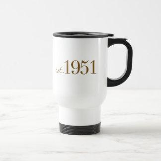 Llevado en 1951 (60.o cumpleaños) taza de café