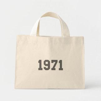 Llevado en 1971 bolsas lienzo