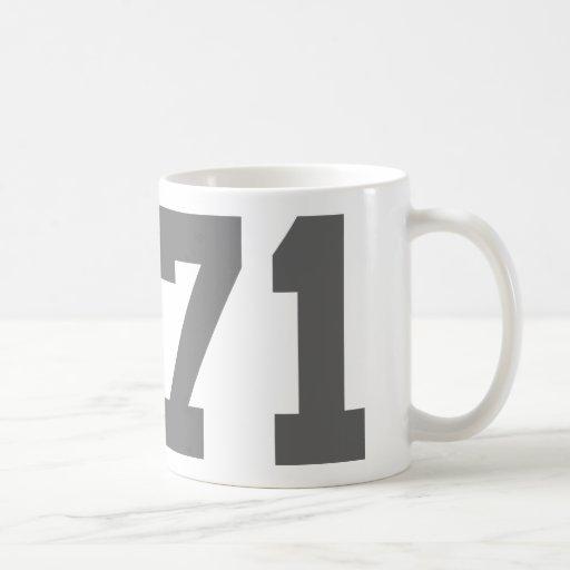 Llevado en 1971 tazas de café