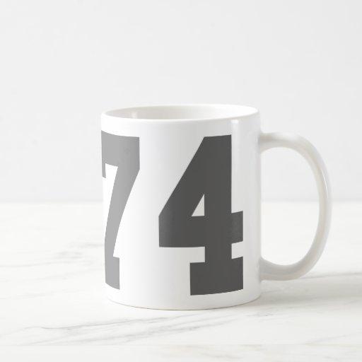 Llevado en 1974 tazas de café