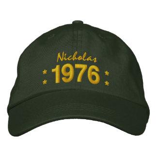 Llevado en 1976 o cualquier VERDE del cumpleaños Gorras De Béisbol Bordadas