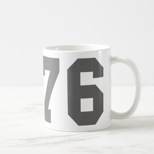 Llevado en 1976 taza de café