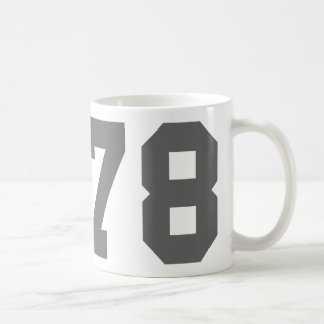 Llevado en 1978 taza básica blanca