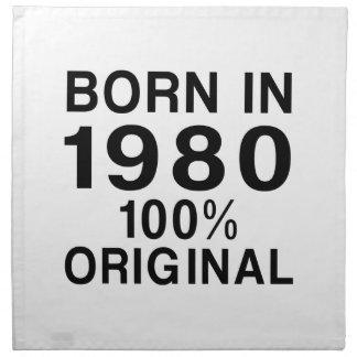 Llevado en 1980 servilleta de papel