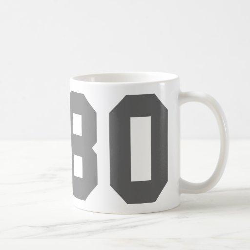 Llevado en 1980 taza de café