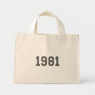 Llevado en 1981 bolsas lienzo