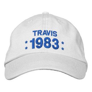 Llevado en 1983 o cualquier 35to BLANCO del cumple Gorras Bordadas