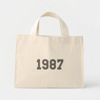 Llevado en 1987 bolsa lienzo