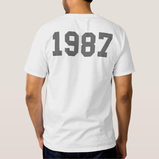 Llevado en 1987 playera