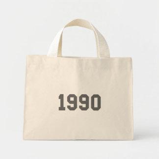 Llevado en 1990 bolsas lienzo