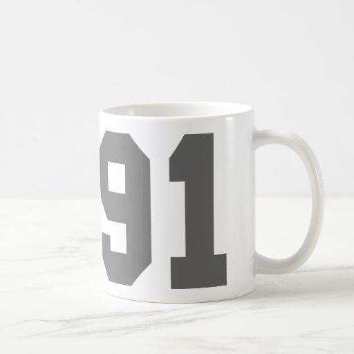 Llevado en 1991 tazas de café