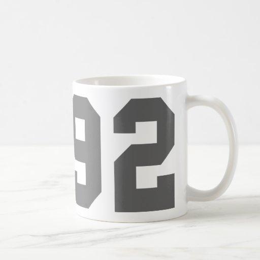 Llevado en 1992 tazas de café