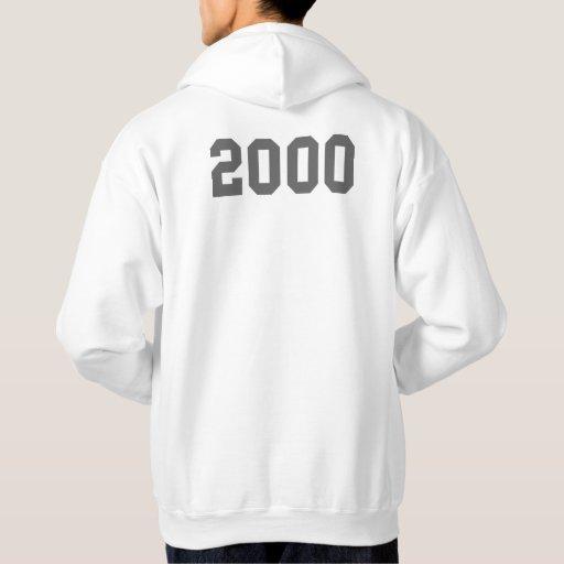 Llevado en 2000 sudadera con capucha