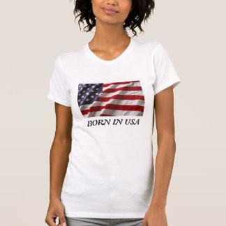 Llevado en camiseta de la mujer de los E.E.U.U.