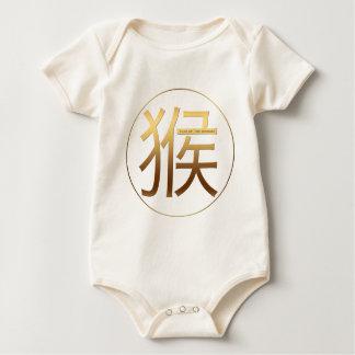Llevado en efecto grabado en relieve oro del año body para bebé