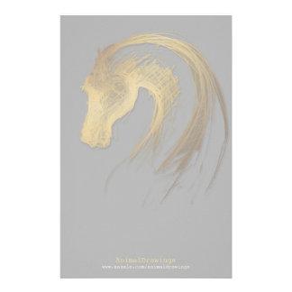 Llevado en el año del caballo - efectos de  papeleria de diseño