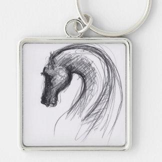 Llevado en el año del caballo - llavero