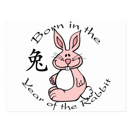 Llevado en el año del conejo postales