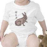 Llevado en el año del conejo traje de bebé