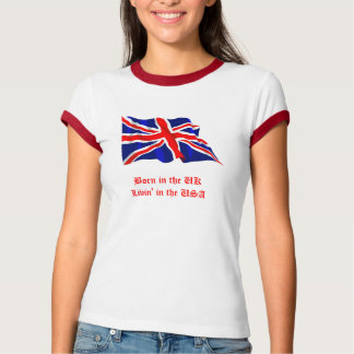 Llevado en el Reino Unido-Livin' en los E.E.U.U. Playeras