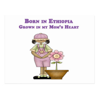 Llevado en Etiopía crecida en el corazón de mi Tarjetas Postales