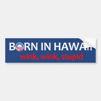 Llevado en Hawaii Etiqueta De Parachoque