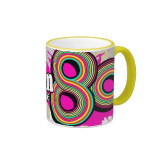 """""""Llevado en los años 80"""" pique la taza retra del l"""