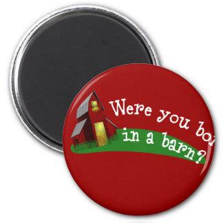 Llevado en un botón de la cita del granero imán redondo 5 cm