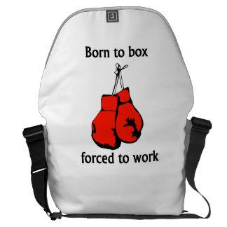 Llevado encajonar forzado para trabajar bolsa de mensajería
