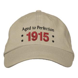 Llevado ENVEJECIDO en 1915 al 100o cumpleaños V2A Gorra De Beisbol