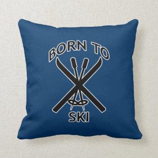 Llevado esquiar almohada