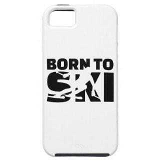Llevado esquiar cuesta abajo iPhone 5 fundas