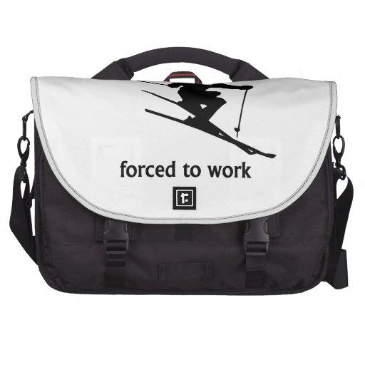 Llevado esquiar forzado para trabajar bolsas de portátil