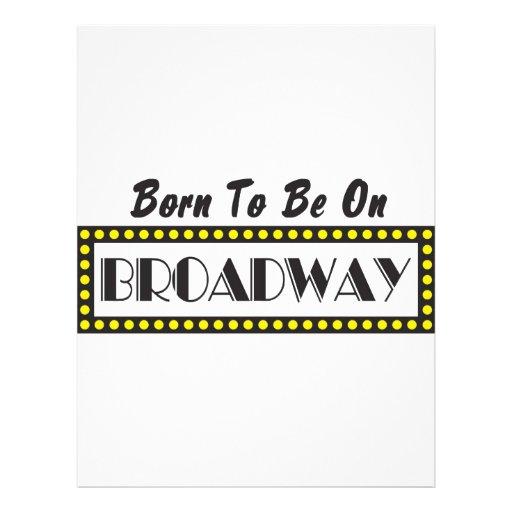 Llevado estar en Broadway Tarjetones