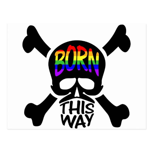 Llevado este cráneo y bandera pirata de la manera postal