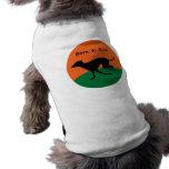 Llevado funcionar con diseño del galgo italiano camisetas de mascota