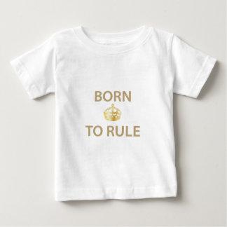 Llevado gobernar con la corona de oro playera de bebé