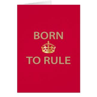 Llevado gobernar con la corona de oro tarjeta